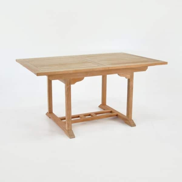 rectangle teak extension table 58in