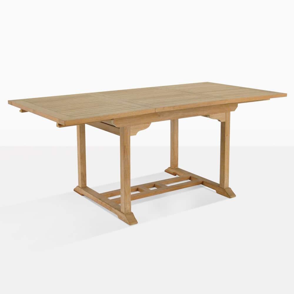 Rectangle Teak Extension Dining Table 47 Teak Warehouse