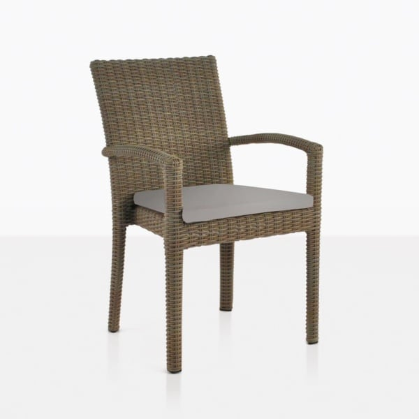 Romansa Wicker Dining Chair With Arms