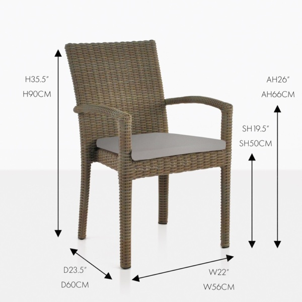 Romansa wicker dining chair
