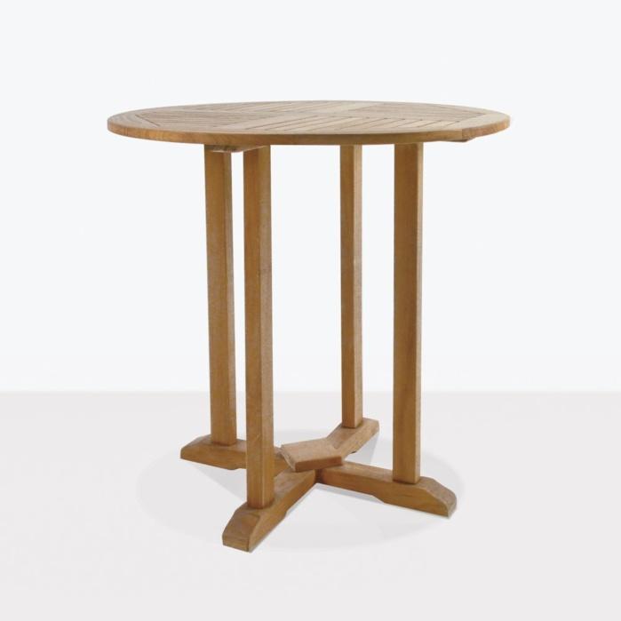 Round Teak Bar Table