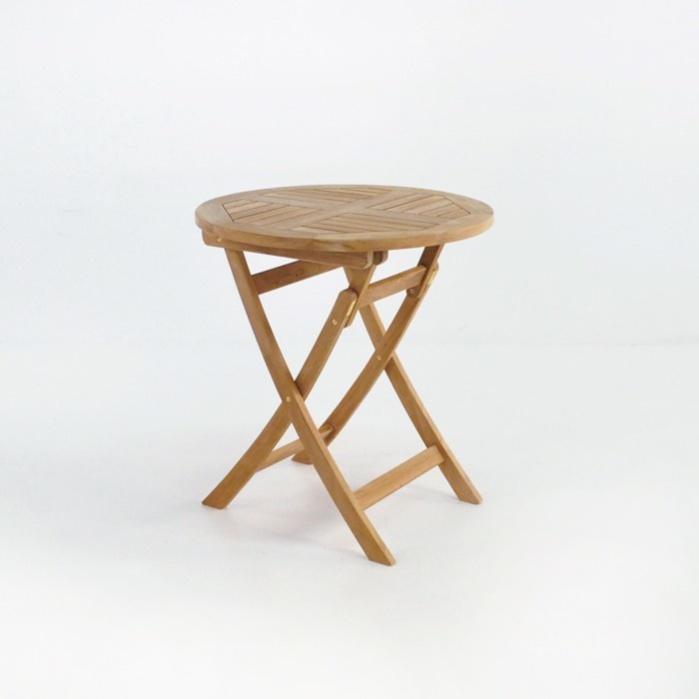 Round Teak Folding Dining Tables 0