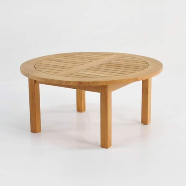Round Low Teak Coffee Tables-0