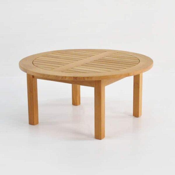 Round Low Teak Coffee Tables