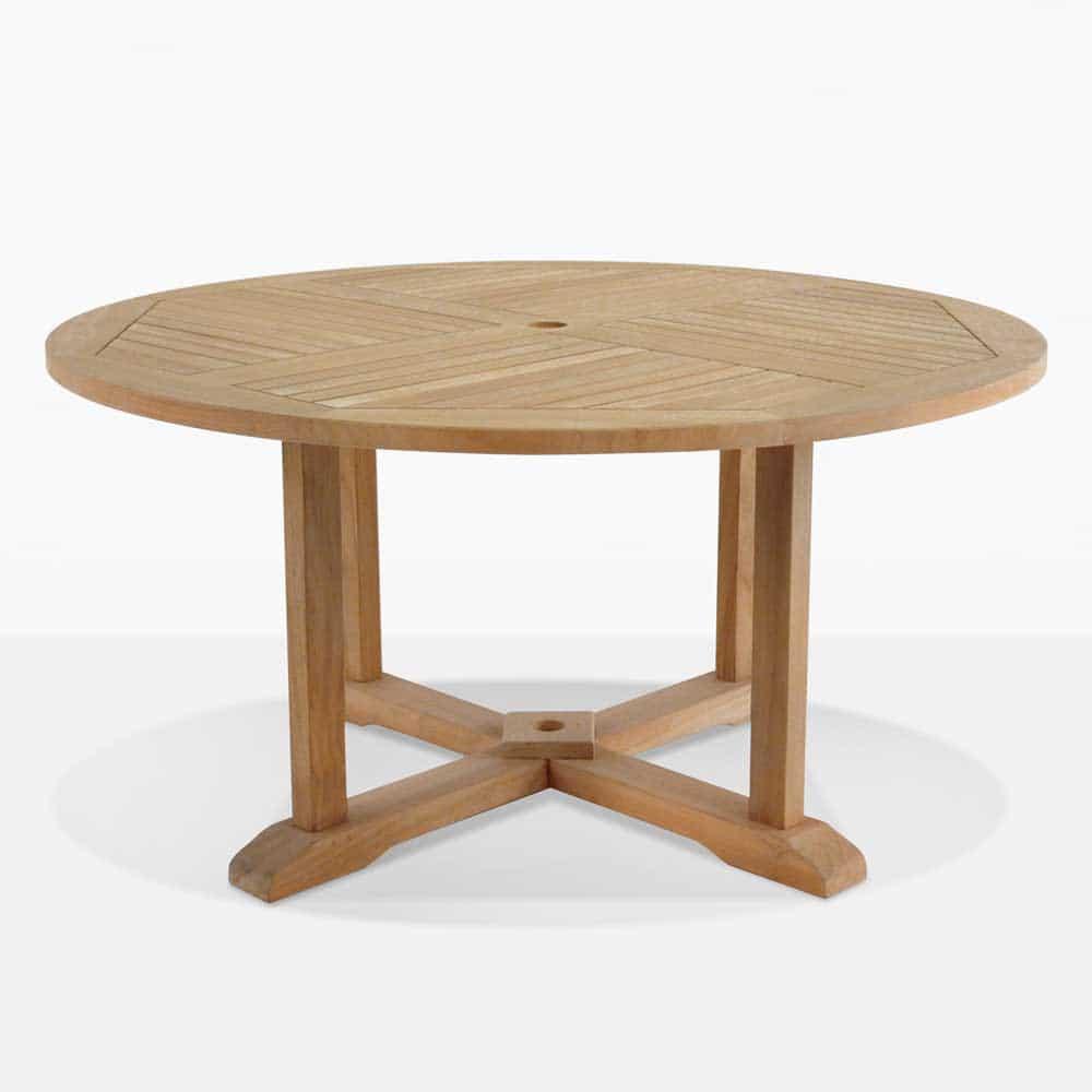 round teak pedestal table dining tables teak warehouse