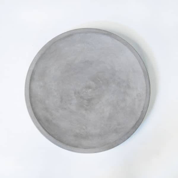 blok round concrete dish top view