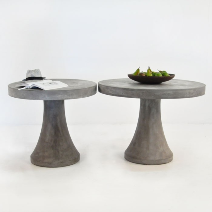 BLOK Round Concrete Table Dining Tables Teak Warehouse