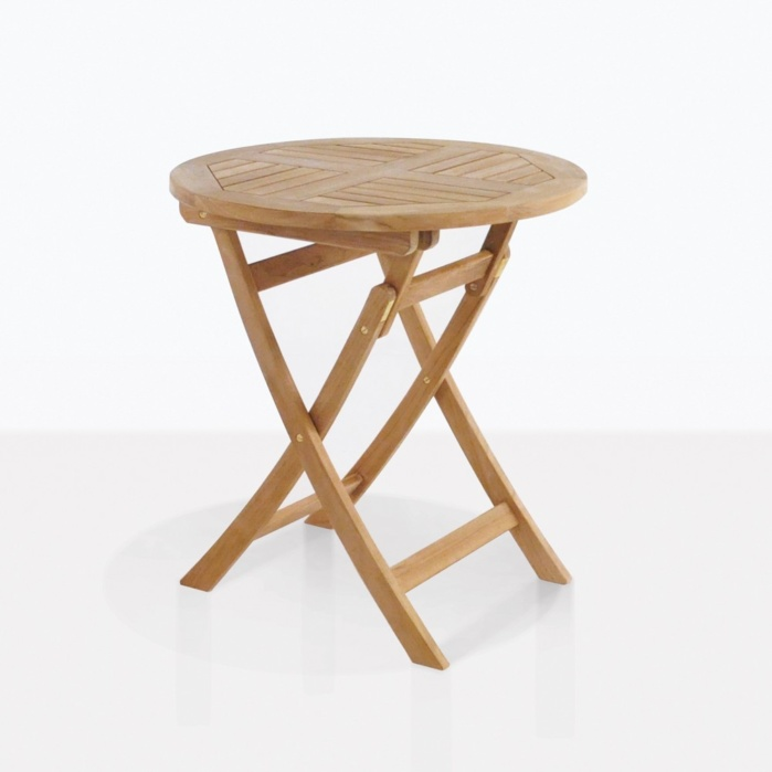 Round Teak Folding Dining Tables