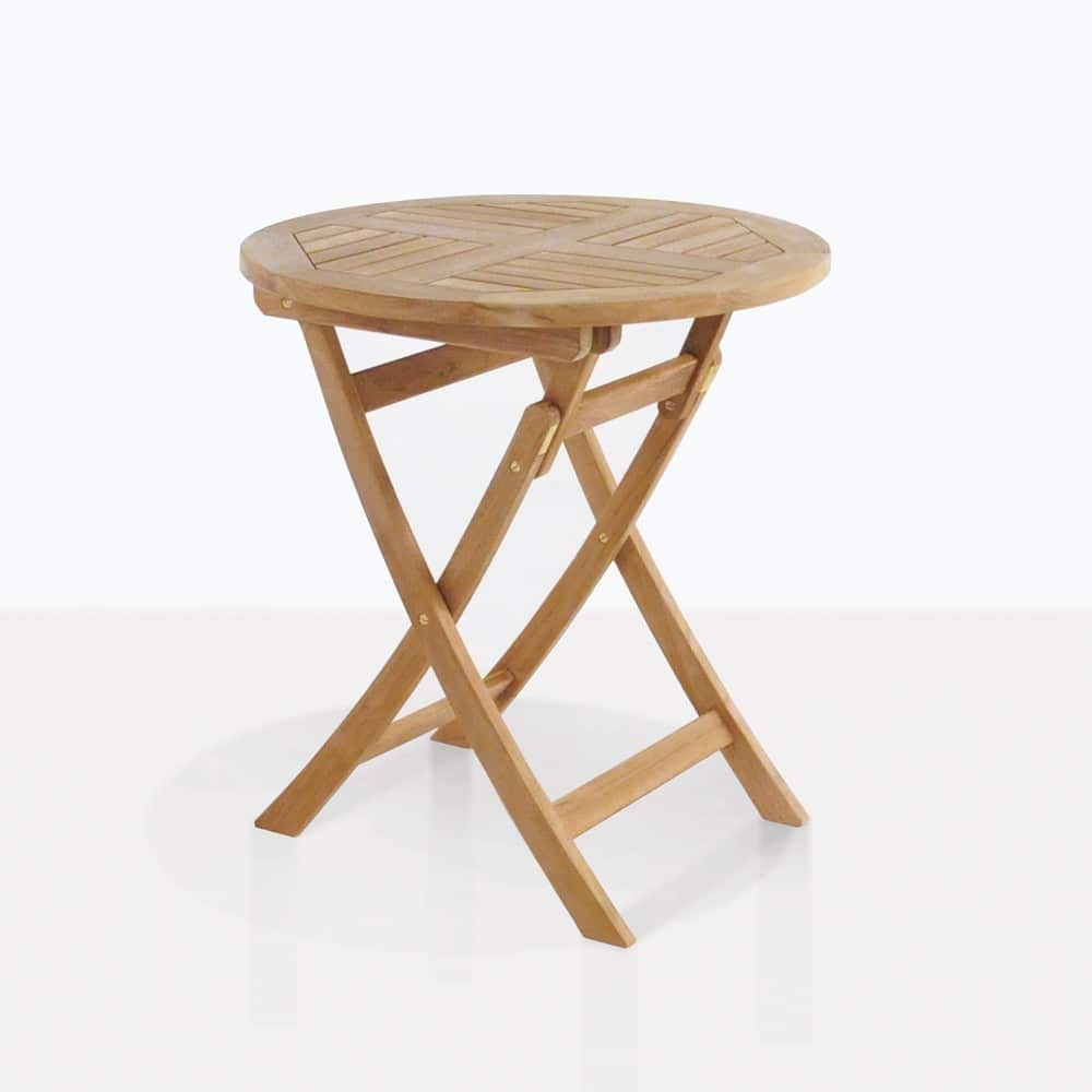 Round Teak Folding Tables Dining Warehouse
