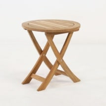 Round A-Grade Teak Side Table-0