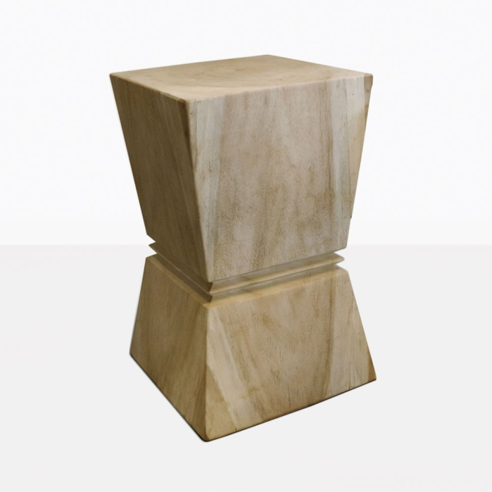 Rung Wood Side Table