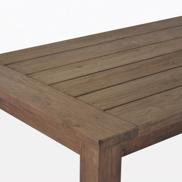 Rustic Four Leg Rectangle Dining Table Closeup