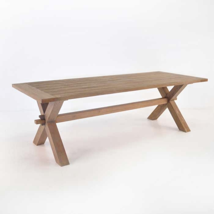teak warehouse dining tables rustic x leg teak dining tables