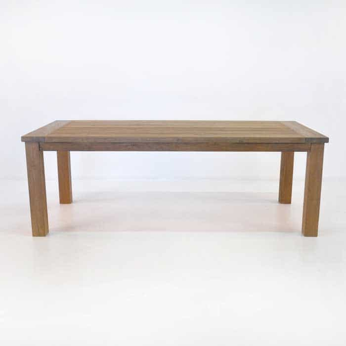 rustic 4 legged outdoor dining table reclaimed teak