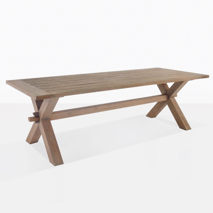 Rustic X Leg Teak Dining Tables
