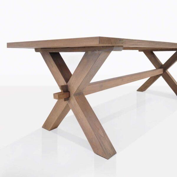 Rustic Teak Dining Table Closeup