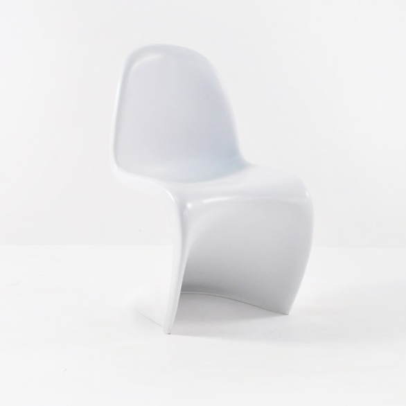 S Chair Outdoor Dining Chair in Polypropylene (White)-0
