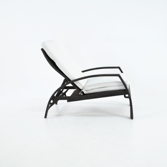 sam adjustable outdoor sun lounger adjusted side view