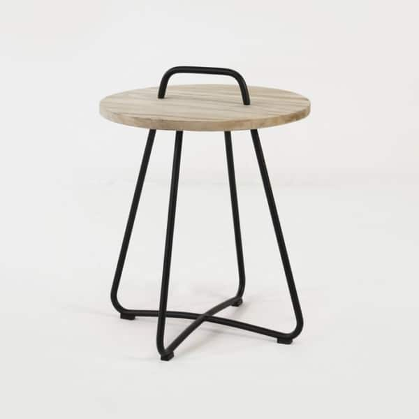 samba side table black angle view