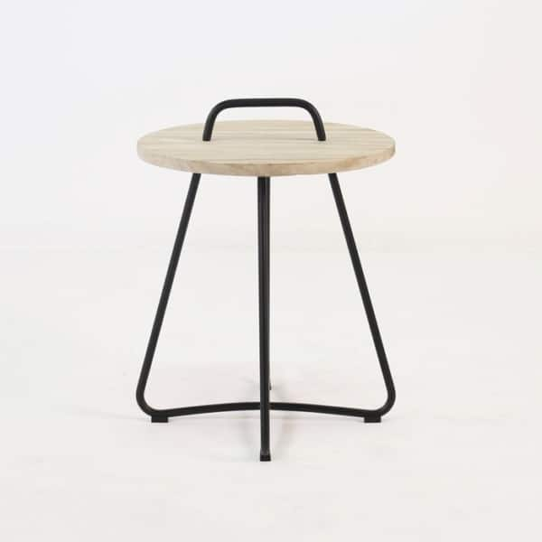 samba side table black straight view