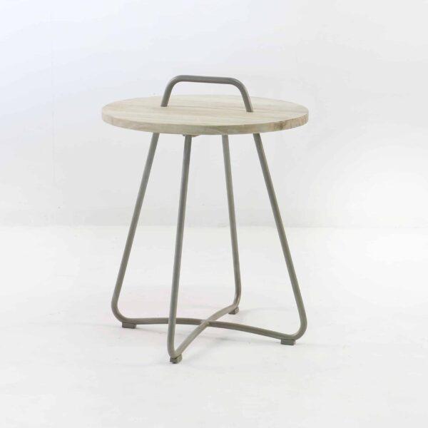 samba side table taupe angle view