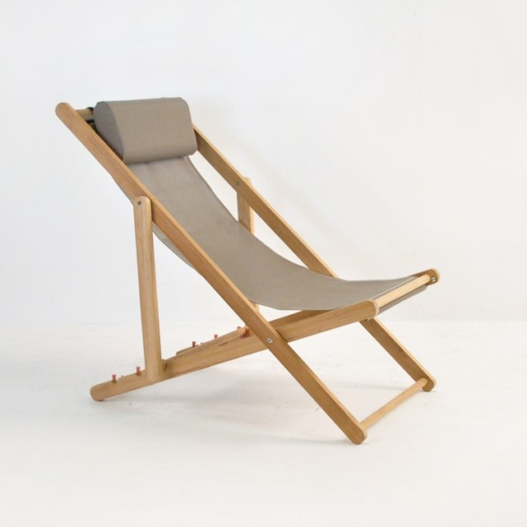 Teak Relaxing Sling Chair-0