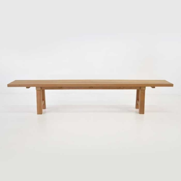 somerset a grade teak bench side view