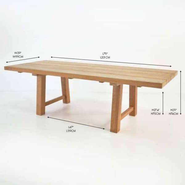 somerset teak dining table