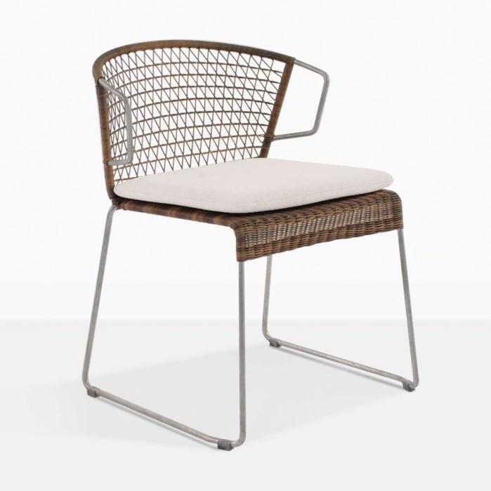 Sophia Modern Wicker Outdoor Dining Chair - Sophia Modern Dining Chair Outdoor Restaurant Seating Teak Warehouse