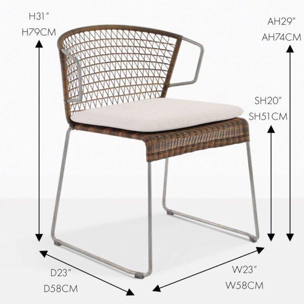 sophia sampult wicker outdoor dining chair