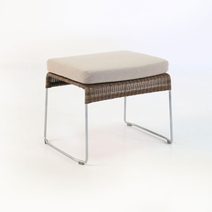 Sophia Outdoor Wicker Ottoman (Sampulut)-0