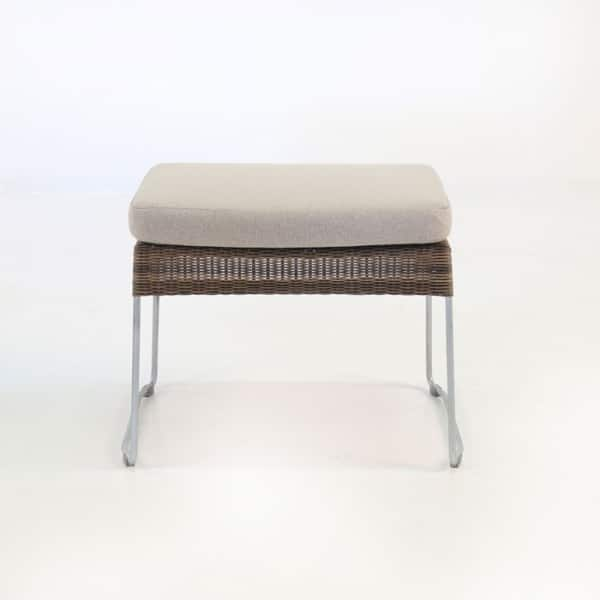 sophia outdoor wicker ottoman sampulut front view