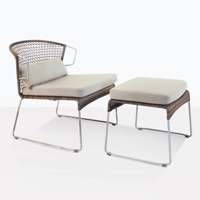Sophia Outdoor Chair With Matching Ottoman