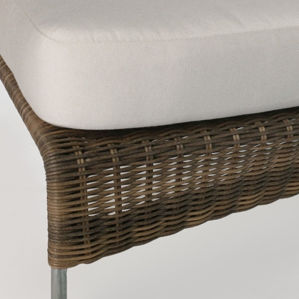 Sophia Modern Wicker Outdoor Chair Closeup