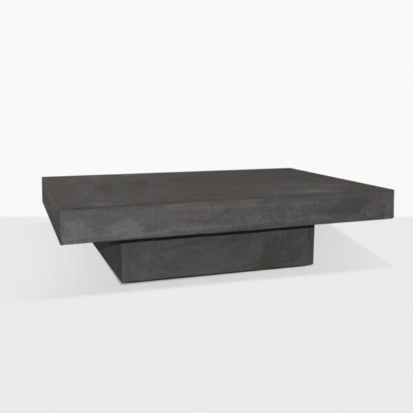 Blok Concrete Square Coffee Table in Black