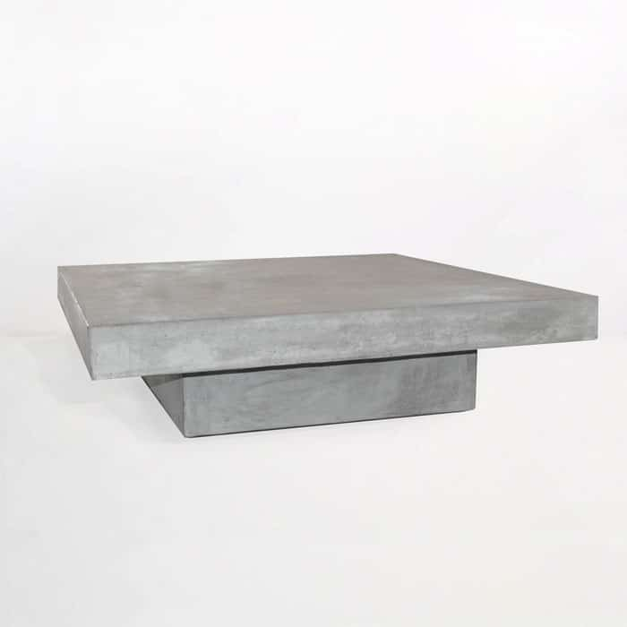 Blok Square Concrete Coffee Table Patio Furniture Teak Warehouse