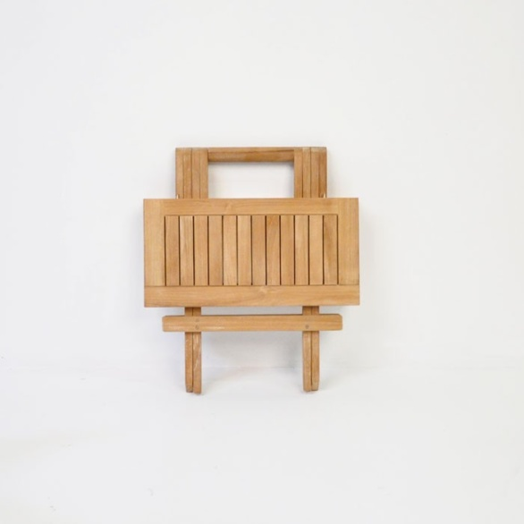 teak picnic table square folded top view