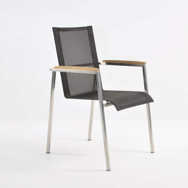 stainless steel stacking chair black