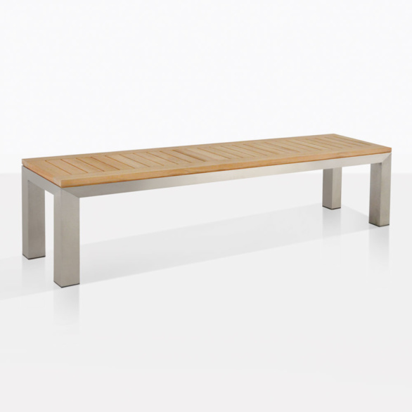 Teak And Marine Grade Stainless Steel Bench
