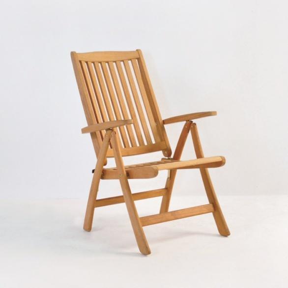 St. Moritz Teak Folding Relaxing Reclining Chair-0