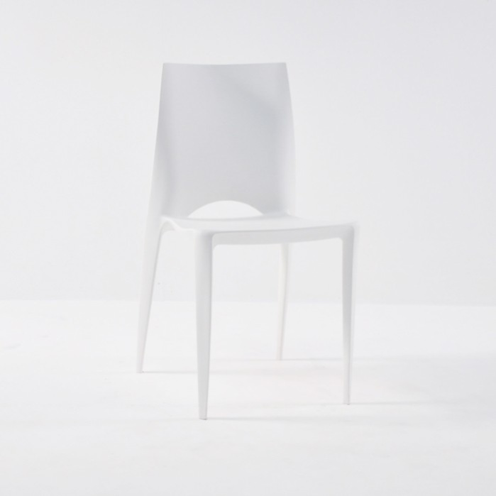 Stiletto Outdoor Dining Chair in Polypropylene (White)-0