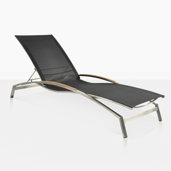 Summer Sun Lounger With Steel And Mesh