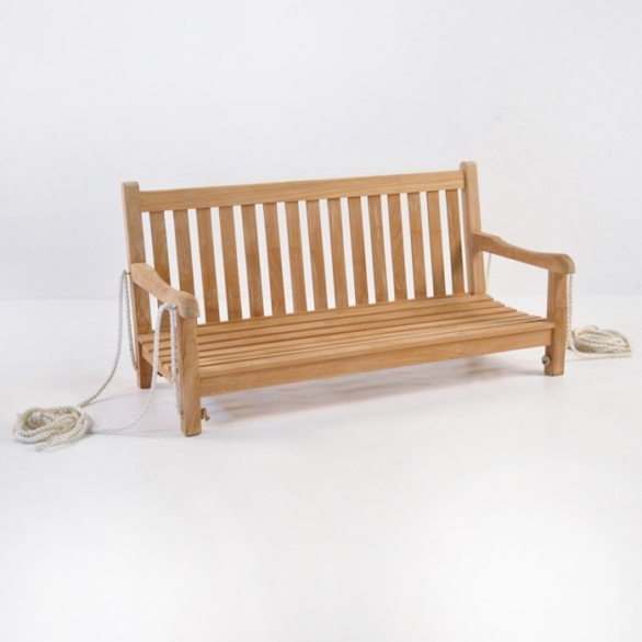 Outdoor Teak Bench Swing -0