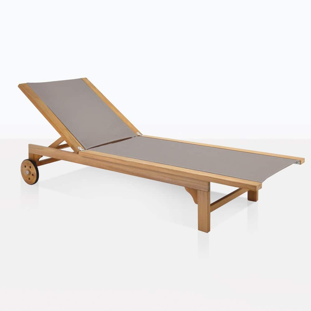 tango teak and mesh sun lounger (taupe). sun loungers chaise lounges and daybeds  teak warehouse