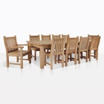 Teak Dining Set For Ten
