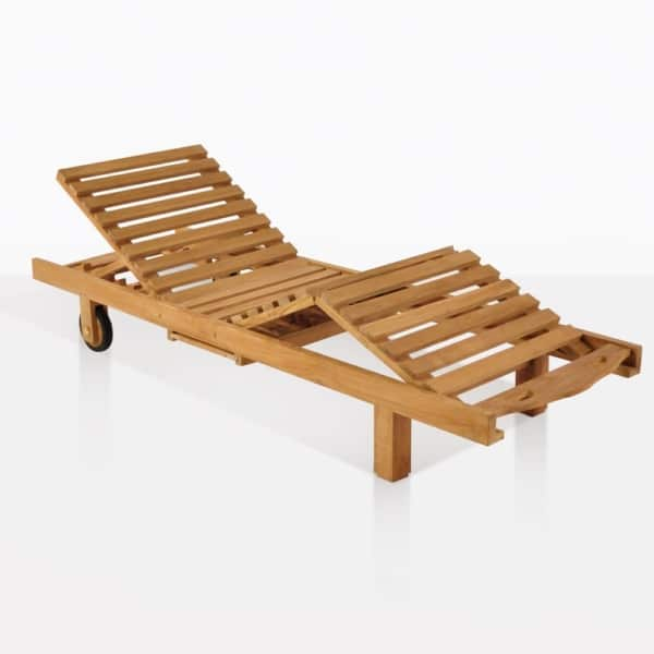 Teak Sun Lounger Adjustable Back