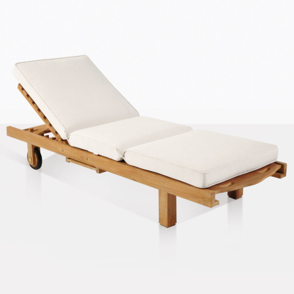 Teak Sun Lounger With Cushion
