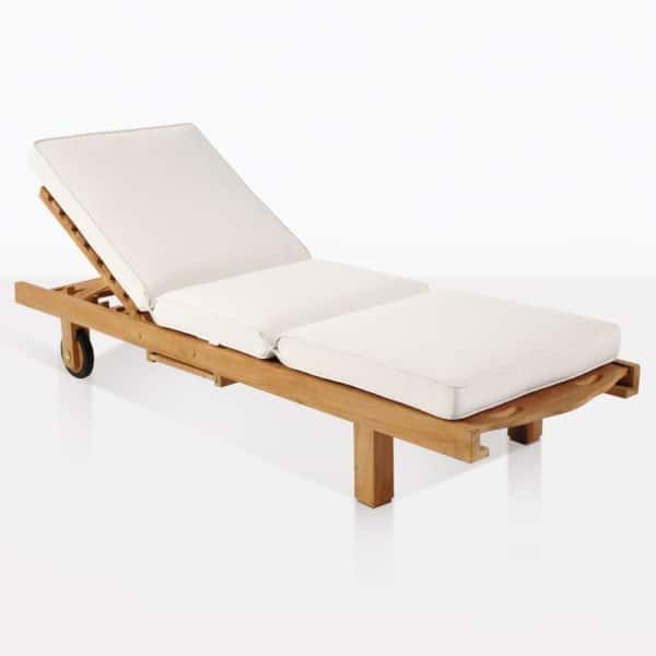 Teak Sun Lounger With Cushion