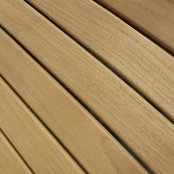 Teak Table Top Dining Table Closeup