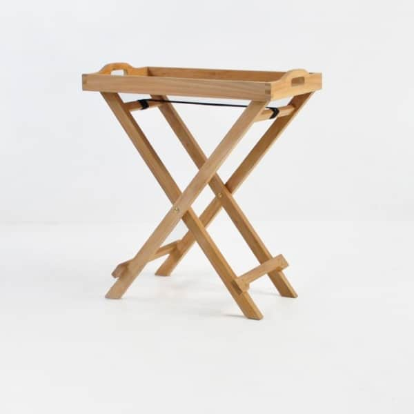 Teak Serving Tray with Stand-0
